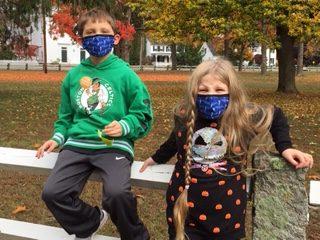 Children participate in the Crop Walk - October 2020
